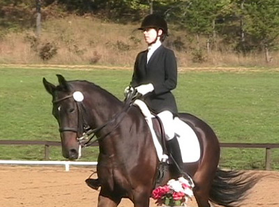 Godiva and Janna showing FEI Prix St. George at Otter Creek Fall Fest, 2008