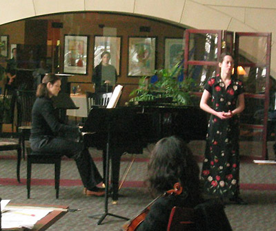 Katja and Janna in Performance